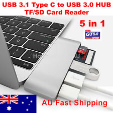 USB 3.1 Type-C to USB 3.0 HUB Combo USB-C Charge Port Adapter TF SD Card Reader
