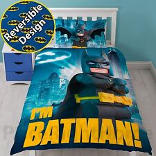 Official Lego Batman Movie Hero Single Duvet Cover Set Blue Kids Bedding