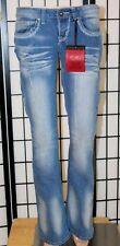 """RED RIVET Women's Size 3 Embellished Distressed Flare Stretch Jeans 32"""" Inseam"""