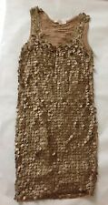 Designer Michael Kors Dress Golden Brown -Size S (UK 8-10)