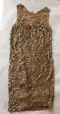 Designer Michael Kors Dress Golden Brown -Size S (UK 8-10)