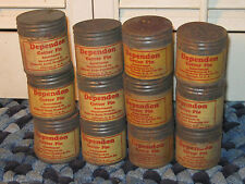 12 Vintage DEPENDON COTTER PIN Hardware Container Box lot FEDERAL AUTO TIN CAN