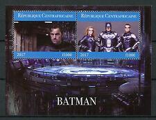 Central African Rep 2017 CTO Batman 2 V M/S II superhéroes sellos