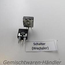 2 x Drehschalter Wechsler THT Printmontage Schalter Dreh