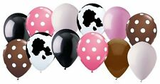 12 pc Cowgirl Inspired Polka Dot Latex Balloon Party Decoration Western Cow Girl