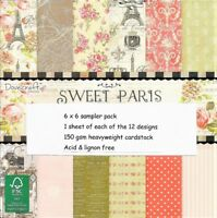 DOVECRAFT SWEET PARIS PAPERS 6 X 6 SAMPLE PACK - NEW RELEASE - 12 SHEETS