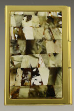 Genuine White BALTIC AMBER Mosaic Credit/Business Card CASE Holder 181003-29