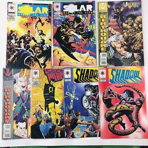 Valiant 7-comic lot: Solar Man of the Atom 24 & 25, Secret Weapons #1, Ninjak 17