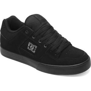 DC Pure Mens Black Pirate Leather Skate Shoes Trainers Size 8-15