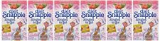 6 Pack Diet SNAPPLE Raspberry Soft Drink Mix 6 Stick In Each Box single to go