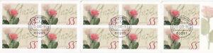 allemagne carnet 10 timbres oblitérés 1er jour rosengrub 12.2.2003