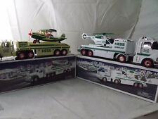 Lot of 2 Hess Toy Trucks - Helicopter - Plane - Great Set in great shape
