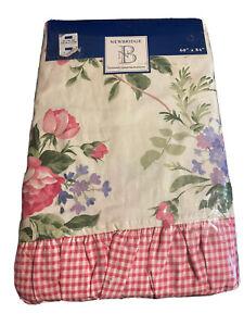 "Newbridge Vintage English Rose Floral Ruffled Tablecloth 60"" X 84"" Oblong"