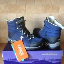 AHNU Montara M. Blue Waterproof Leather Trail Hiking Boots Shoes Size 5 Womens
