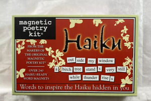 Magnetic Poetry Kit HAIKU! 200 Word Magnets! Made in USA