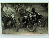 Vintage Real Picture Three Men on Motorcycle with their Dogs Photography Kodac