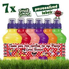 7 x personnalisé Mickey Mouse Fruit Shoot étiquettes bouteille Stickers