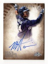 MONTE HARRISON MLB 2015 BOWMAN INCEPTION PROSPECT AUTOGRAPH (MILWAUKEE BREWERS)
