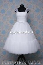 Scoop Neck Cap Short Sleeve Wedding Dresses