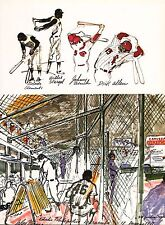 LEROY NEIMAN BOOK PRINT BASEBALL YANKEE DUGOUT SKETCH STARGEL CLEMENTE BENCH