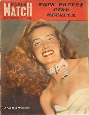 PARIS MATCH N°18 1949 tour de france la plus jolie parisienne