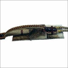 Saddle Barn Bull Rope Pad Hair On Hide Leather Padded Riding Gear U-0-37