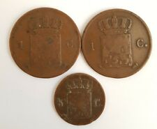 Lot 3 pieces 1/2 et 1cent Pays-Bas années 1823,1862,1876 .(AV092)