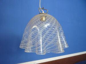 Very rare Fazzoletto Pendant from Kalmar Murano Glass 60s