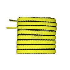 Mr Lacy Slimmies - Yellow & Black Oval Shoelaces - 130cm Length 8mm Width