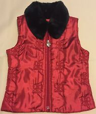 Euc Girls Dressy Soft Vest The Children's Place Sz Medium 7/8-see measurements