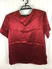Women's Red Blouse Shirt Plus Size 14W/16W 1X  Studio C Collection x103
