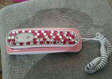 Telephone Push dial Avon Rhinestone phone  (tbl11) non tested
