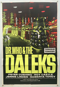 Doctor Who and the Daleks Original Vintage Movie Poster 1967