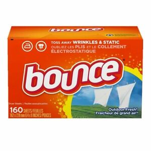 Bounce Fabric Softener Dryer Sheets Outdoor Fresh - 160 320 480 Packs