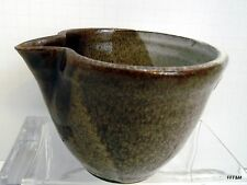 Hand Thrown Stoneware Spout and Handle Prep Mixing Bowl