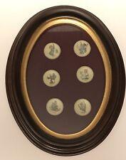 "Mi Hummel Oval Frame w/ Set 6 - 1"" Miniature Plates Germany 1971-1976"