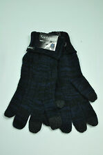 Van Heusen Ladies Navy Cable Tech Knit Gloves ONE SIZE MSRP $24