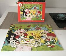 Vintage Strawberry Shortcake Jigsaw Puzzle 1983 Creative Crafts Complete Used