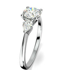 0.70 Ct Round Cut Diamond Engagement Wedding Ring 14K Real White Gold Size O P Q
