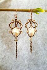 HANDMADE! Genuine Pearl Earrings 20044