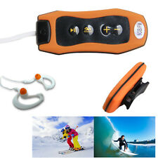 Waterproof 8GB MP3 Player FM Radio Underwater Swimming Diving + Earphone Orange