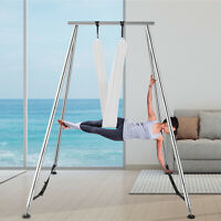 Aerial Stand Yoga Swing Stand Fitness Frame Indoor Portable w/6M Aerial Hommock