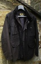 """Mens Barbour Sapper Military Style Wax Jacket Chest Size 38"""" Black BNWOT"""