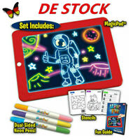 DE Kinder Spielzeug 3D Magic Pad Light Up Board Zeichnung Tablet Kunsthandwer