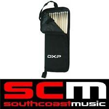 DXP DRUM STICKS - 5 PAIRS IN DRUM STICK CARRY BAG BLACK DRUMSTICK NEW!