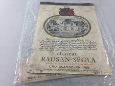 Vintage Chateau Rausan-Segla Cru Classe  Wine Label ~ 1962 ~ Ships FREE!