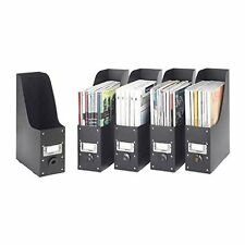File Box Storage Paper Organizer Collection Magazine Folder Home Office Set of 5