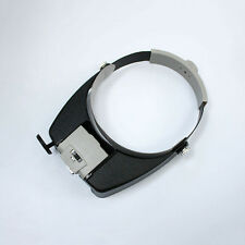 >>Headband Headset LED Head Lamp Visor Jeweler Magnifier Magnifying Glass Loupes