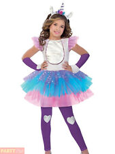 Girls Magical Unicorn Costume Childs Fantasy Fancy Dress Kids Rainbow Outfit