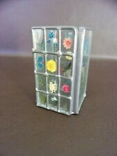 Small Decorative Leaded Glass Style Votive Holder Hand Painted